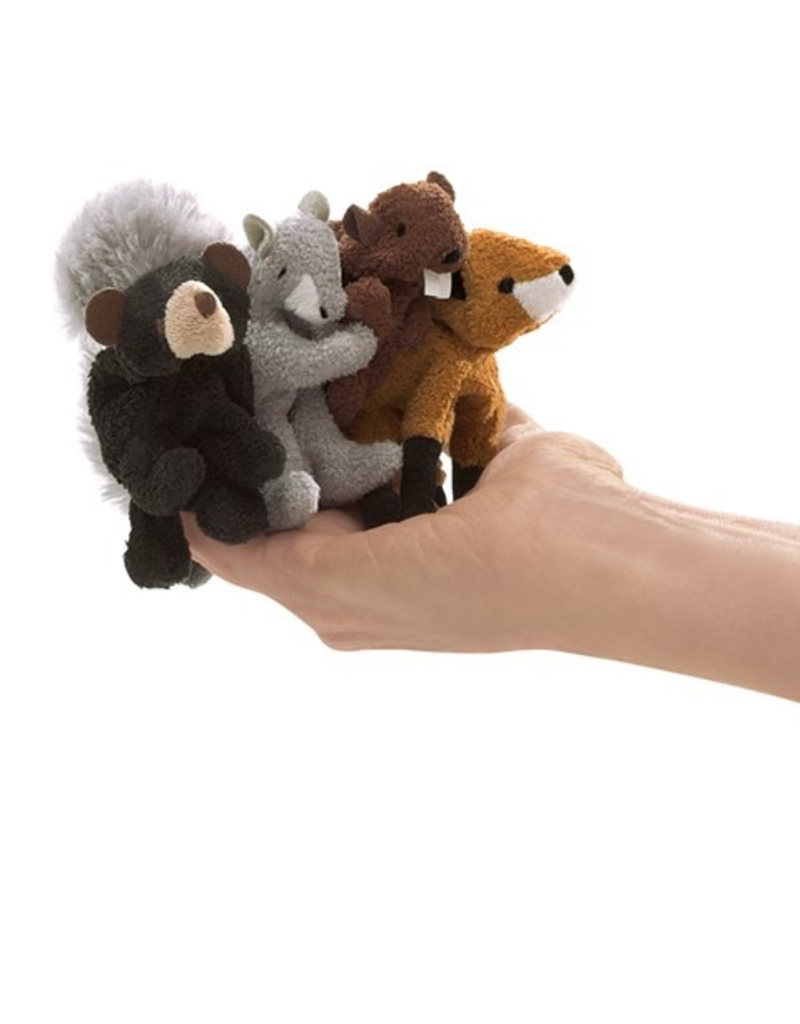 Folkmanis Mini Woodland Animals Finger Puppet Se