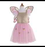 Great Pretenders Gold Butterfly Dress & Wings, Size 5-7Y