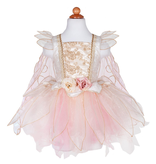 Great Pretenders Golden Rose Fairy Dress With Wings, 5-6Y