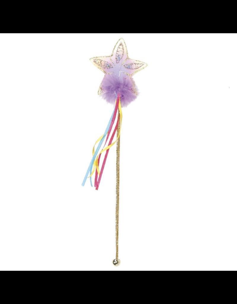 Great Pretenders Glitter Rainbow Wand, Multi/Gold
