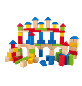 Hape Toys Build Up & Away Blocks - 100 pcs