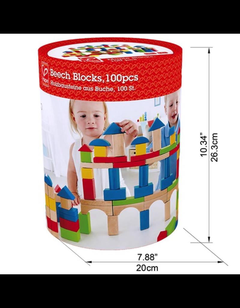 Hape Toys Build Up & Away Blocks - 100 pcs