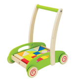 Hape Toys Block and Roll Cart