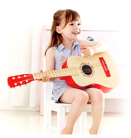 Hape Toys Vibrant Red Guitar