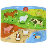 Hape Toys Farm Animals Peg Puzzle