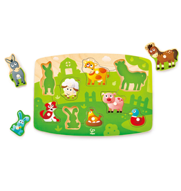 Hape Toys Farmyard Peg Puzzle