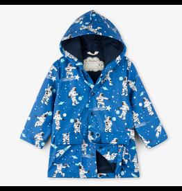 Hatley Athletic Astronauts Raincoat Size 3
