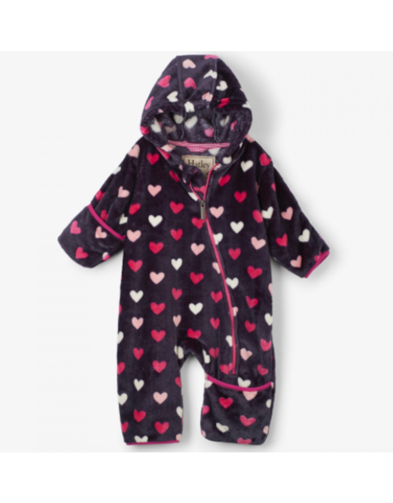 Hatley Hearts Fleece Baby Bundler