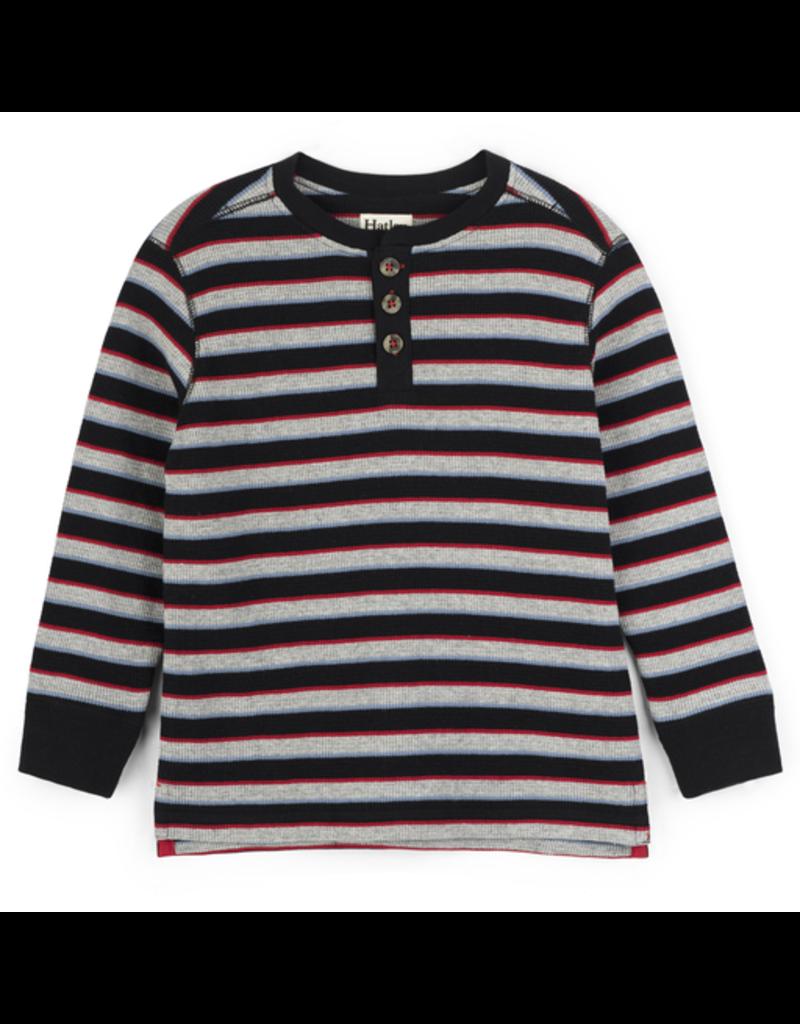 Hatley Black Striped Henley Size 3