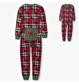 Hatley Moose on Plaid Kid Union Suit