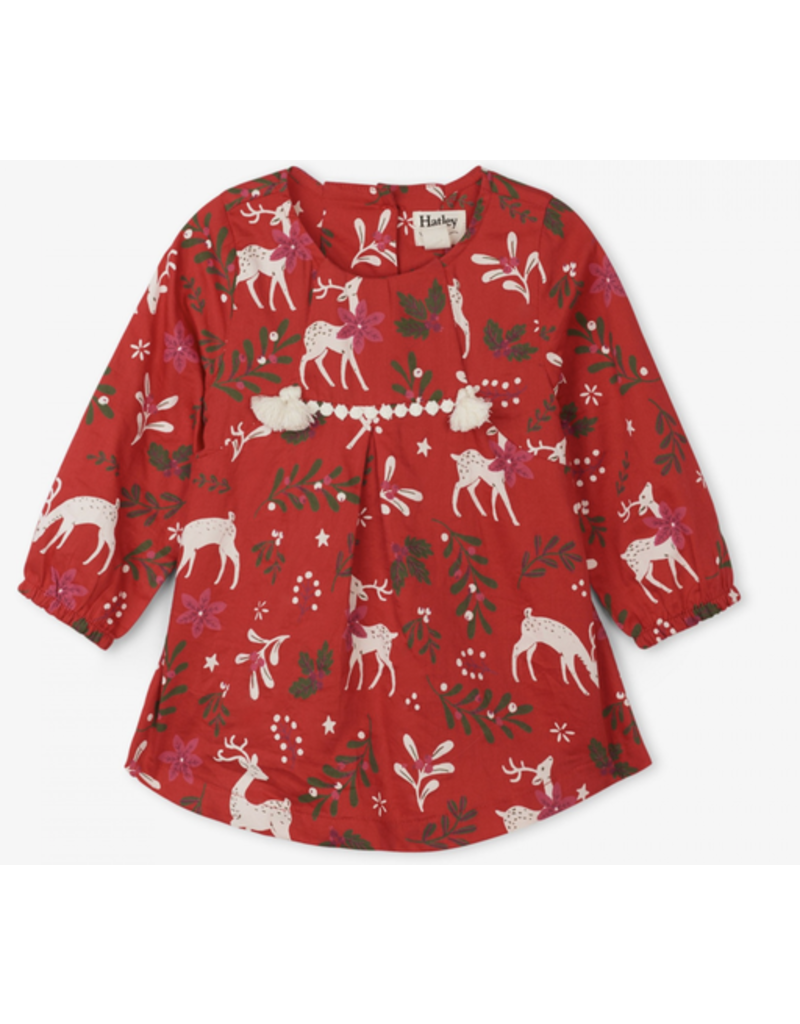 Hatley Mistletoe Deer Baby Dress