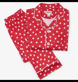 Hatley Snowballs Button Down Pajama Set Size 4