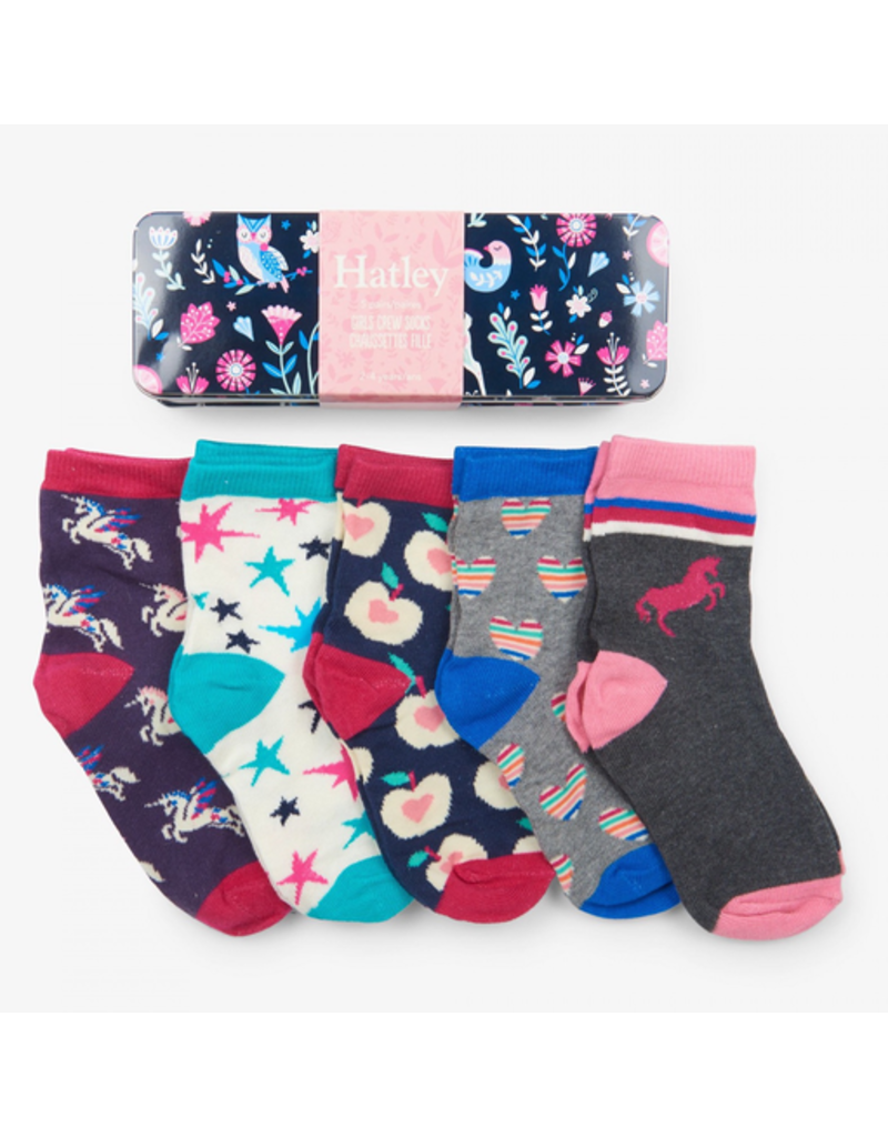 Hatley Girls Crew Sock Tin