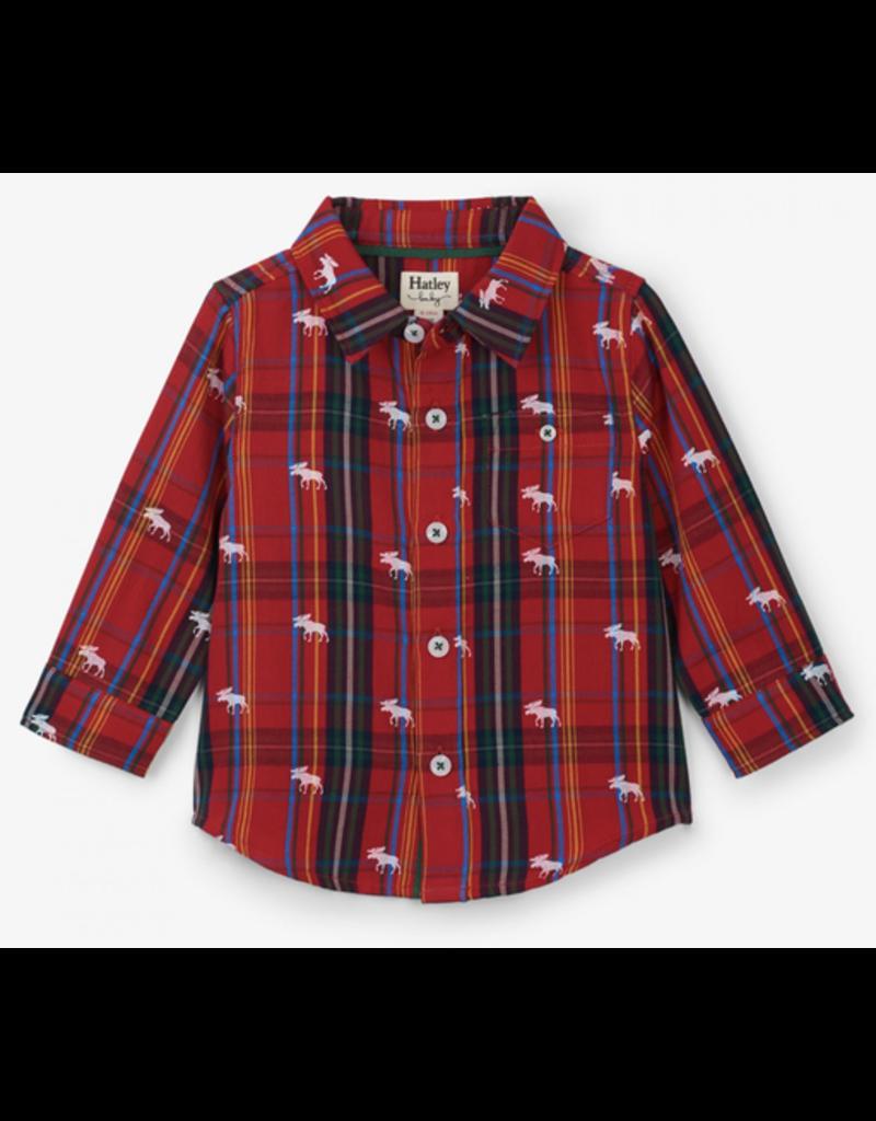 Hatley Moose Baby Button Shirt