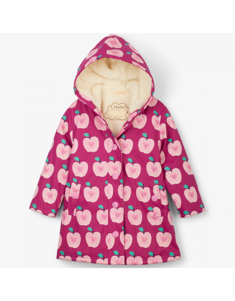 Hatley Apple Orchard Splash Jacket Size 2