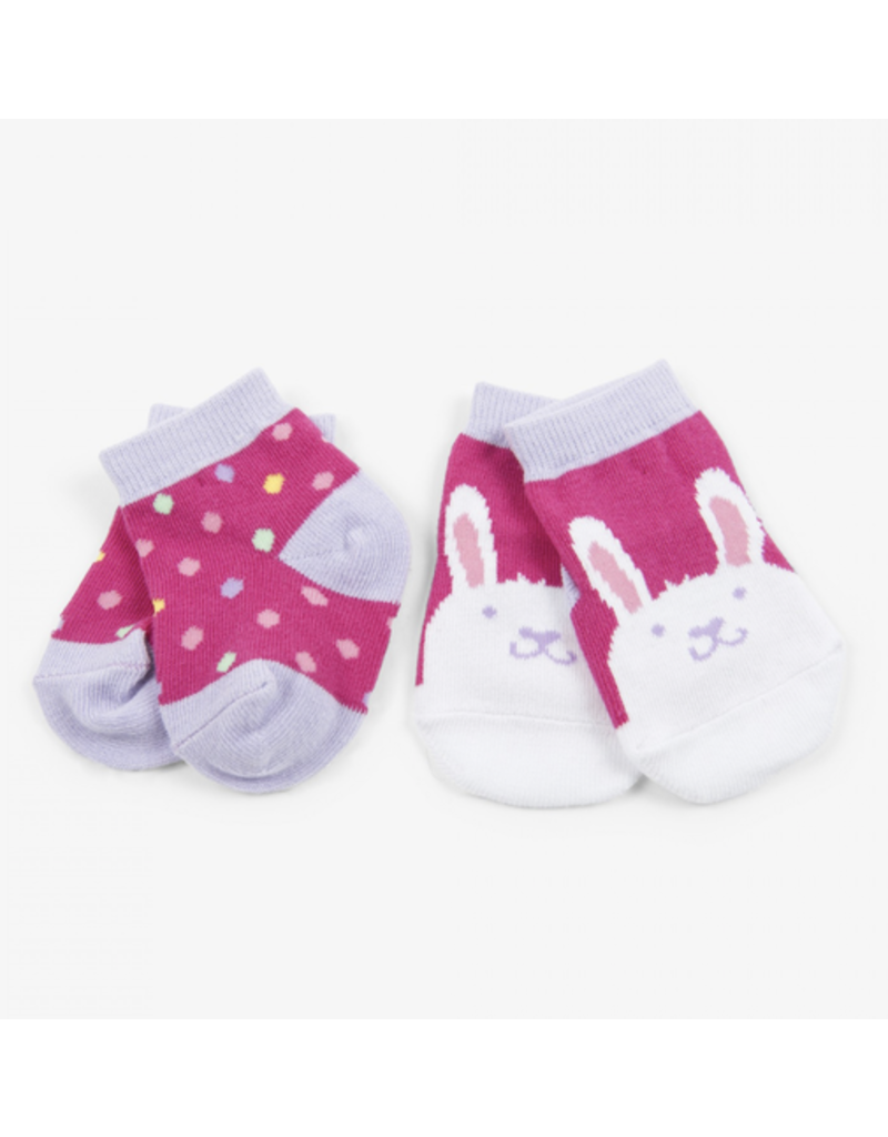 Hatley Funny Bunny Baby Socks 2pk, 0-12m