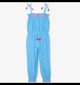 Hatley Chambray Smocked Jumpsuit Sizes 3 & 5