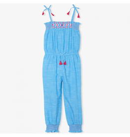 Hatley Chambray Smocked Jumpsuit