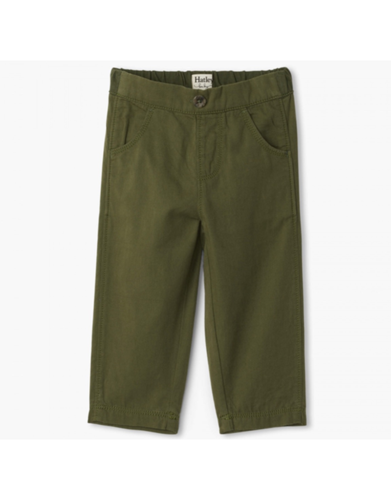 Hatley Jungle Green Baby Twill Pants 6-9m