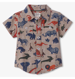 Hatley Safari Baby Button Shirt