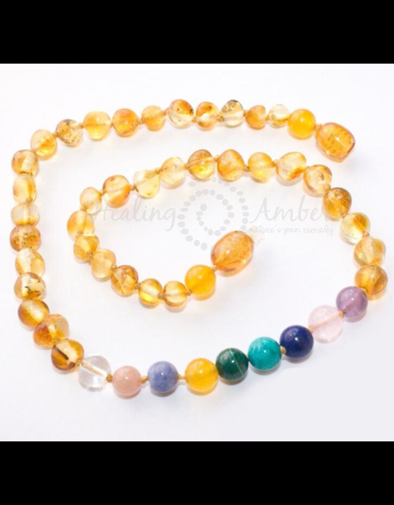 Medium Healing Amber & Gemstone Necklace