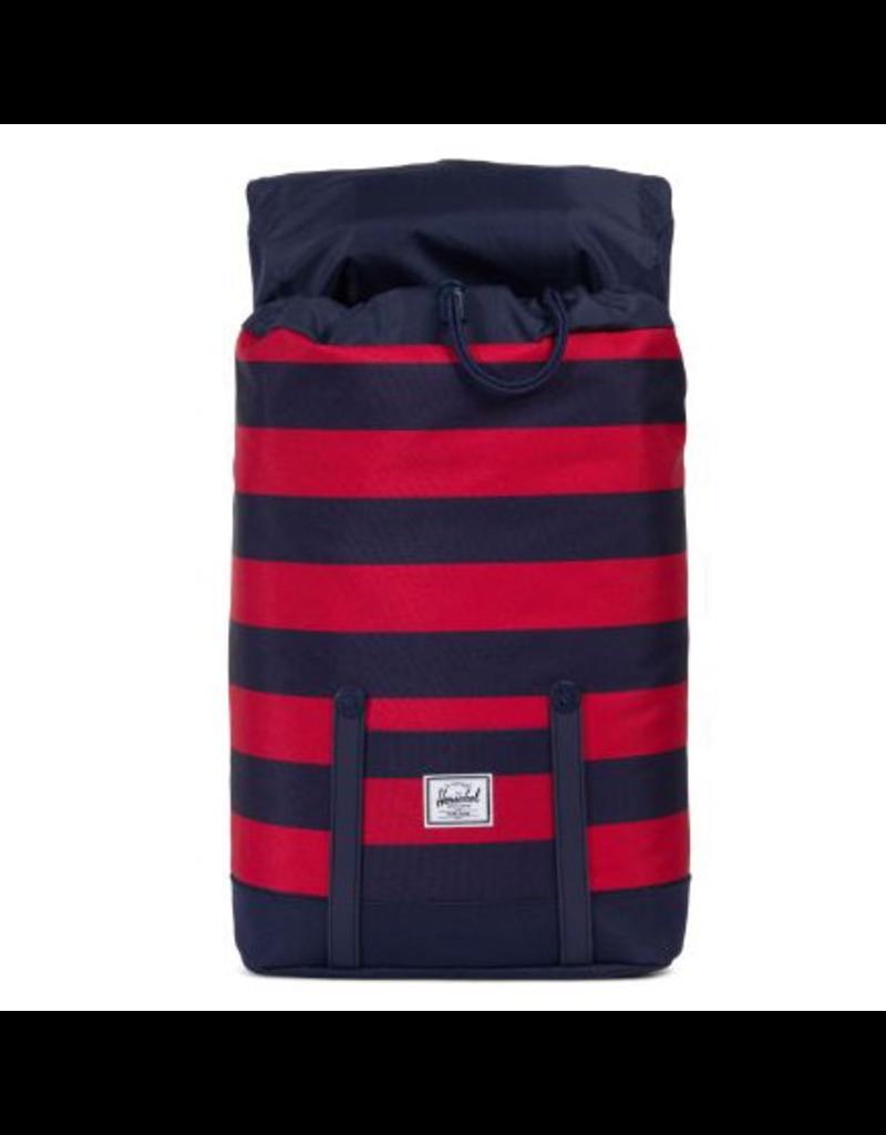 Herschel Retreat Backpack - Navy/Red Stripe