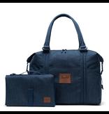 Herschel Strand Sprout Diaper Bag Indigo Denim Crosshatch