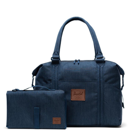 Herschel Strand Sprout Diaper Bag Indigo Denim Crosshatch