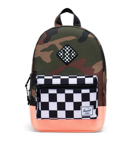 Herschel Heritage Kids Woodland Camo/Checker