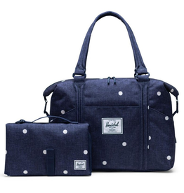 Herschel Strand Sprout Diaper Bag Polka Dot Peacoat