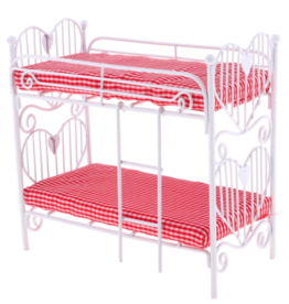 Dollhouse Iron Bunk Beds 12:1 (Fits Maileg Mice)