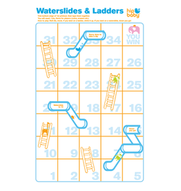 Waterslides & Ladders Game Printable Download