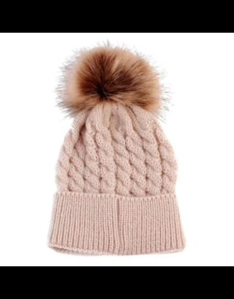 Baby Fur Pom Pom Toque 6+36m