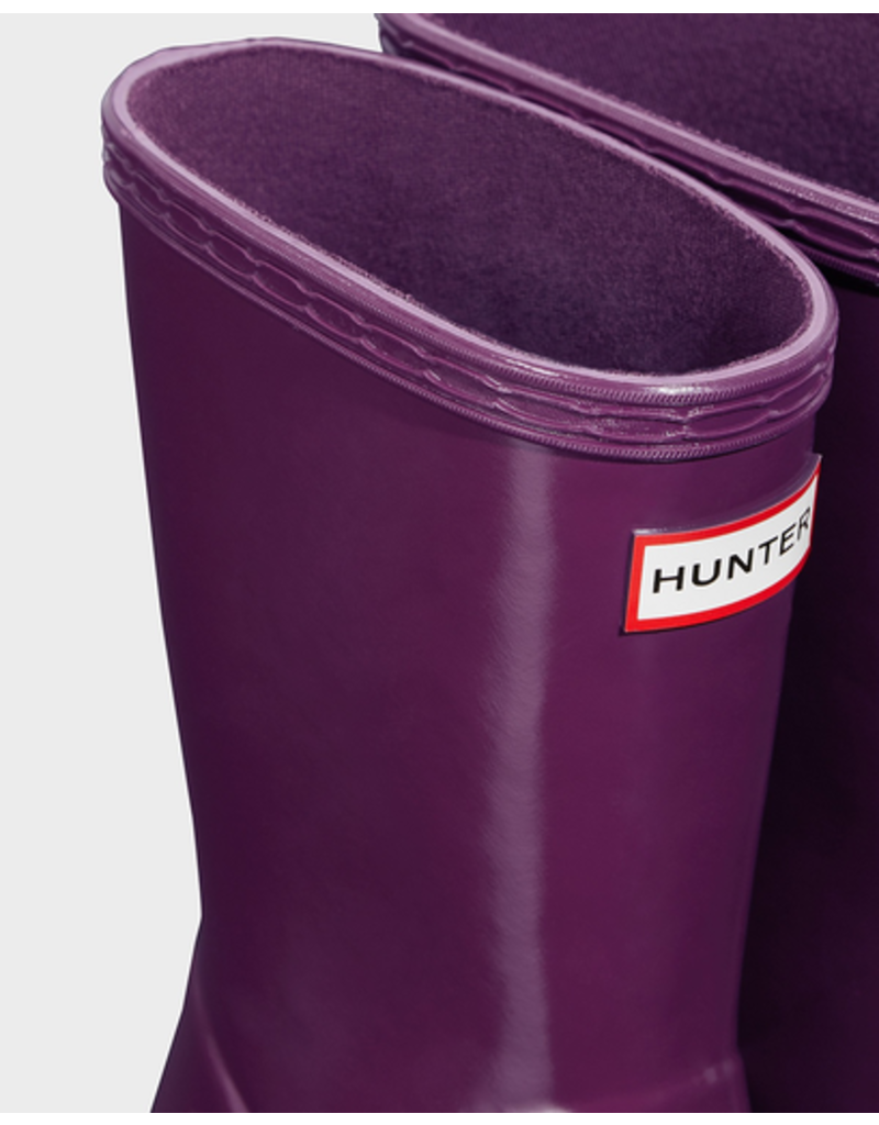 Hunter Boots Kid's First Hunter Gloss Boots Violet