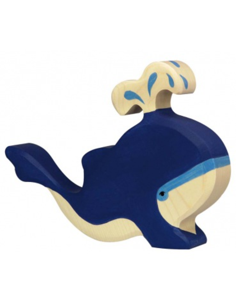 Holztiger Holztiger Blue Whale w/Water Fountain