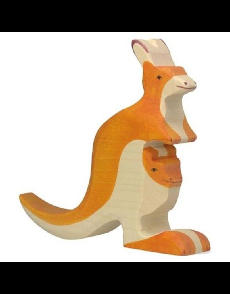 Holztiger Holztiger Kangaroo with Young