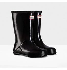 Hunter Boots Kid's First Hunter Gloss Boots Black