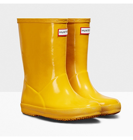Hunter Boots Kid's First Hunter Gloss Boots Yellow