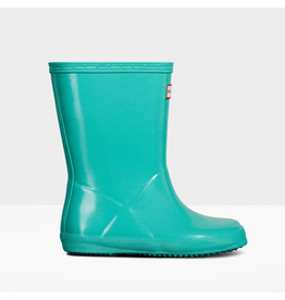 Hunter Boots Kid's First Hunter Gloss Boots Ocean Swell