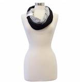 Infinity Breastfeeding Scarf - Jet/Smoke/Metallic Cuff