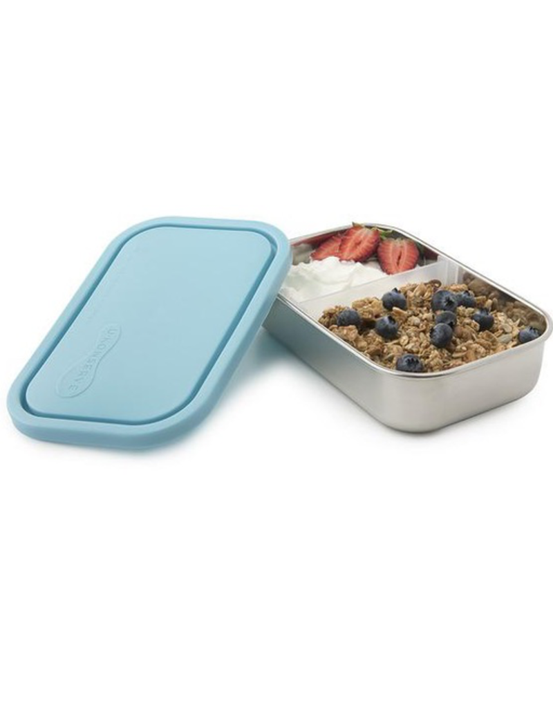 Kids Konserve 25oz 740ml Divided Rectangle Container, Sky