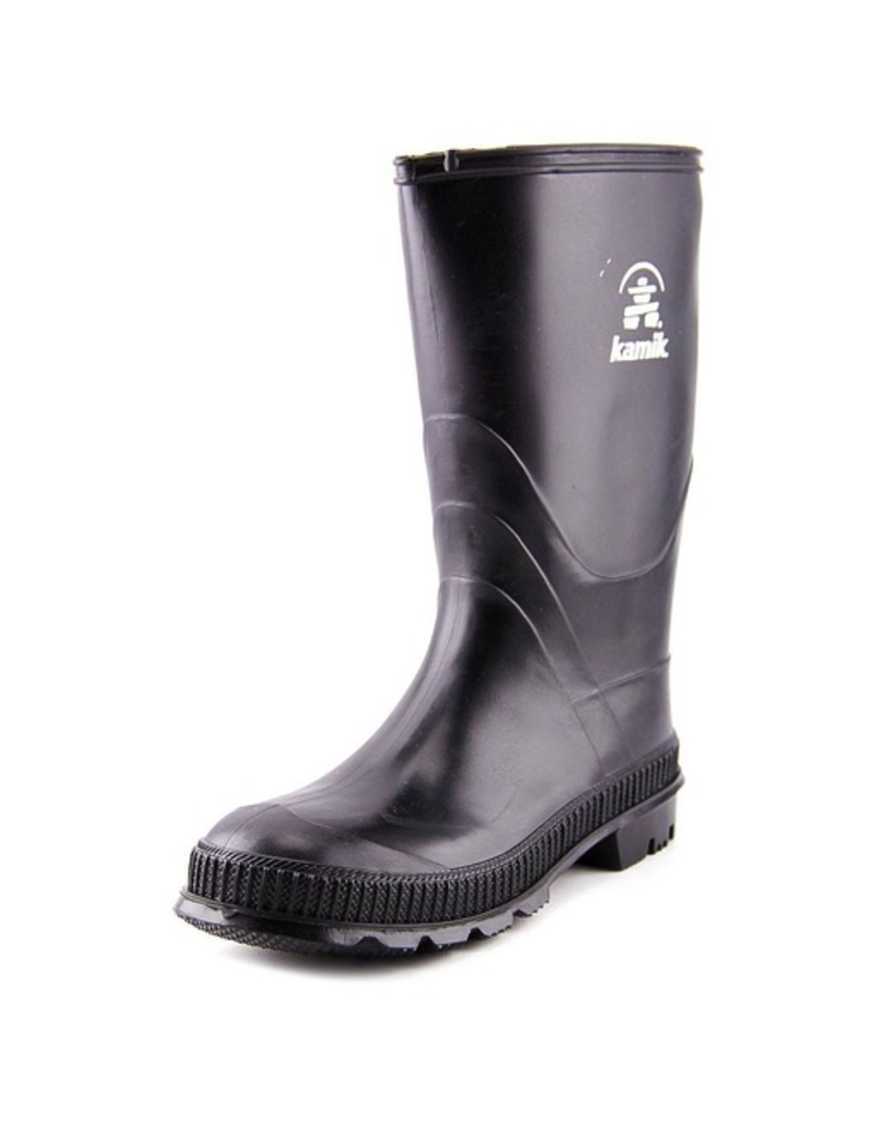 Kamik Black Stomp Youth Rain Boots