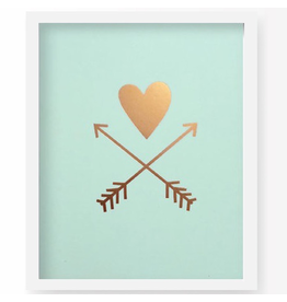 Lucy Darling Lucy Darling Heart and Arrows Art Print 8x10