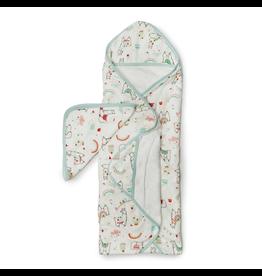 Loulou Lollipop Llama Hooded Towel & Cloth