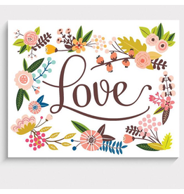 "Lucy Darling Floral Love Art Print 5""x7"""