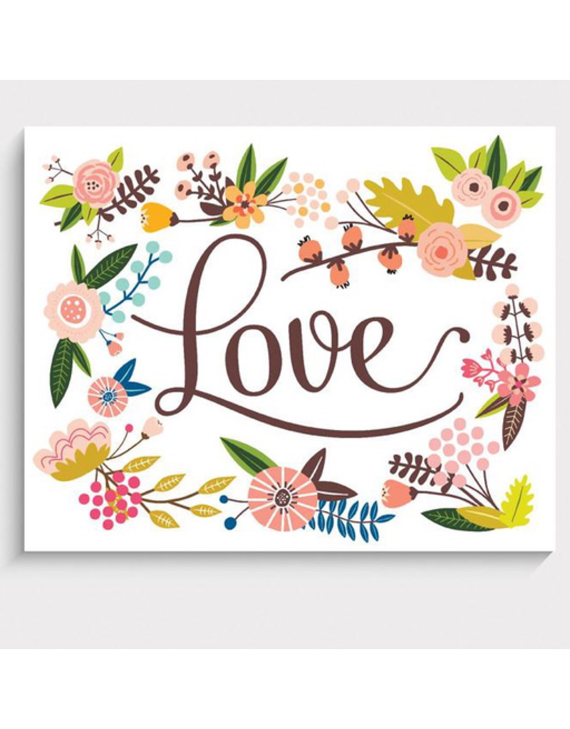 """Lucy Darling Floral Love Art Print 5""""x7"""""""