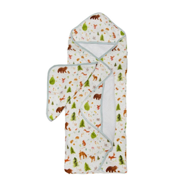 Loulou Lollipop Forest Friends Hooded Towel & Cloth