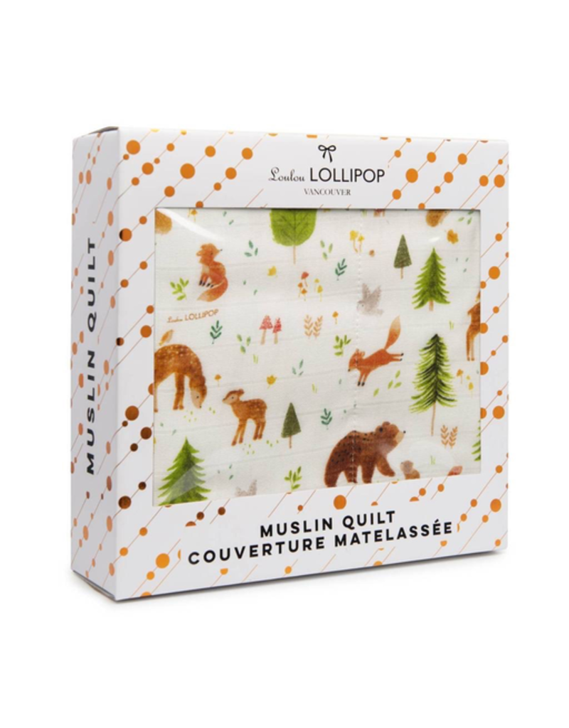 Loulou Lollipop Plush Bamboo Quilt - Forest Friends