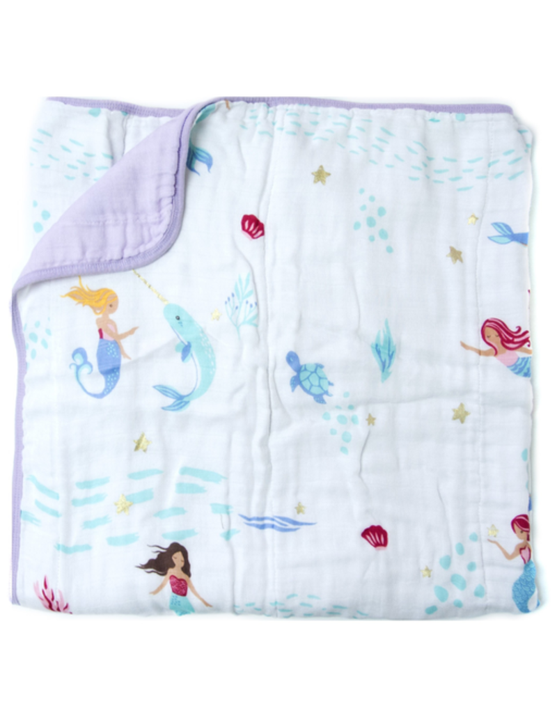 Loulou Lollipop Plush Bamboo Quilt - Mermaid