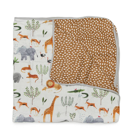Loulou Lollipop Plush Bamboo Quilt - Safari Jungle
